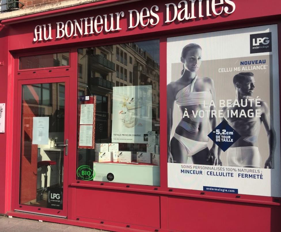 photo de la devanture du magasin d'ethétique au bonheur des dames à sartrouville