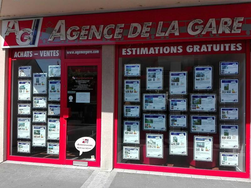 photo de la devanture de l'agence immobilière rue de la république à sartrouville