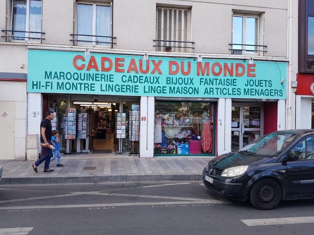 phot de la devanture du magasin cadeaux du monde avenue jean jaures à sartrouville
