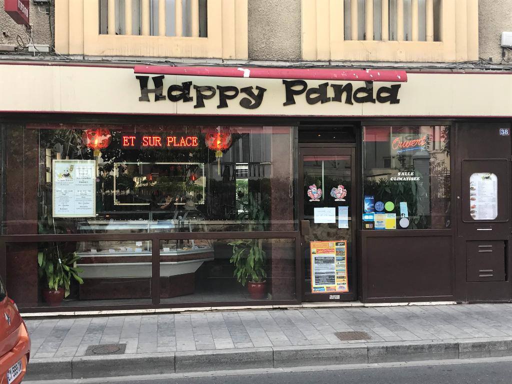photo de la devanture du restaurant happy panda avenue jean jaures à sartrouville