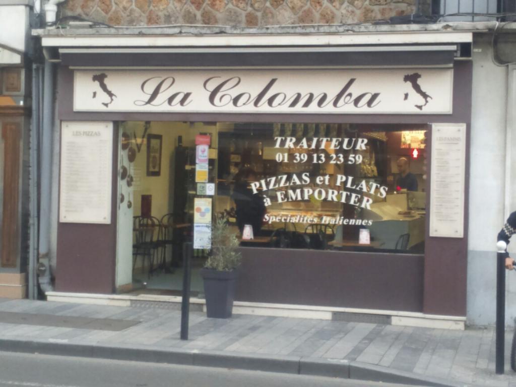 photo représentant la devanture du restaurant la colomba rue de la république à sartrouville