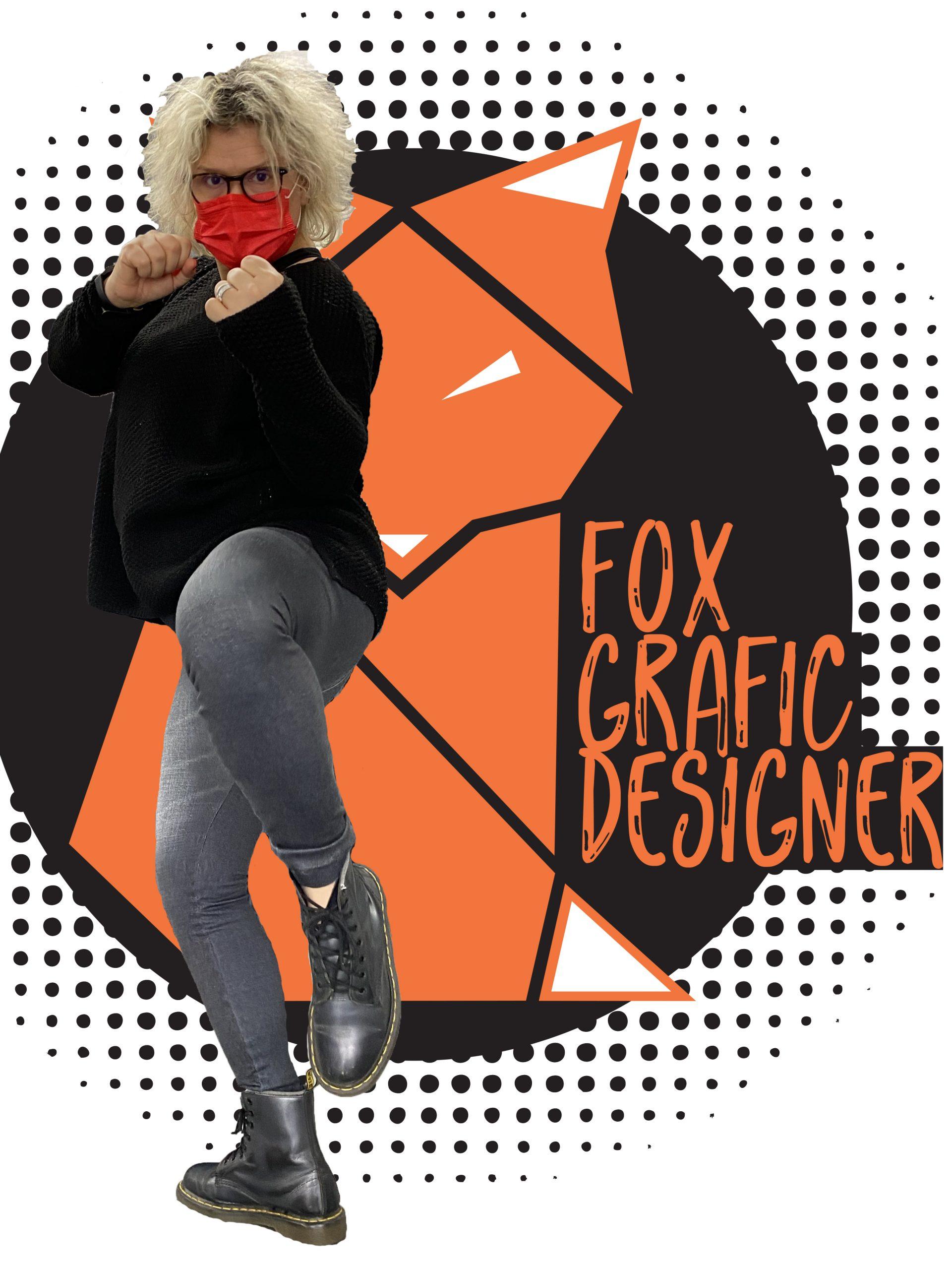 photo et logo d'isabel hocquemiller graphiste maquettiste et webdesigner représentant le dur combat de la com et du web